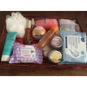 bath pamper hamper including moroccanoil body oil and hair mask